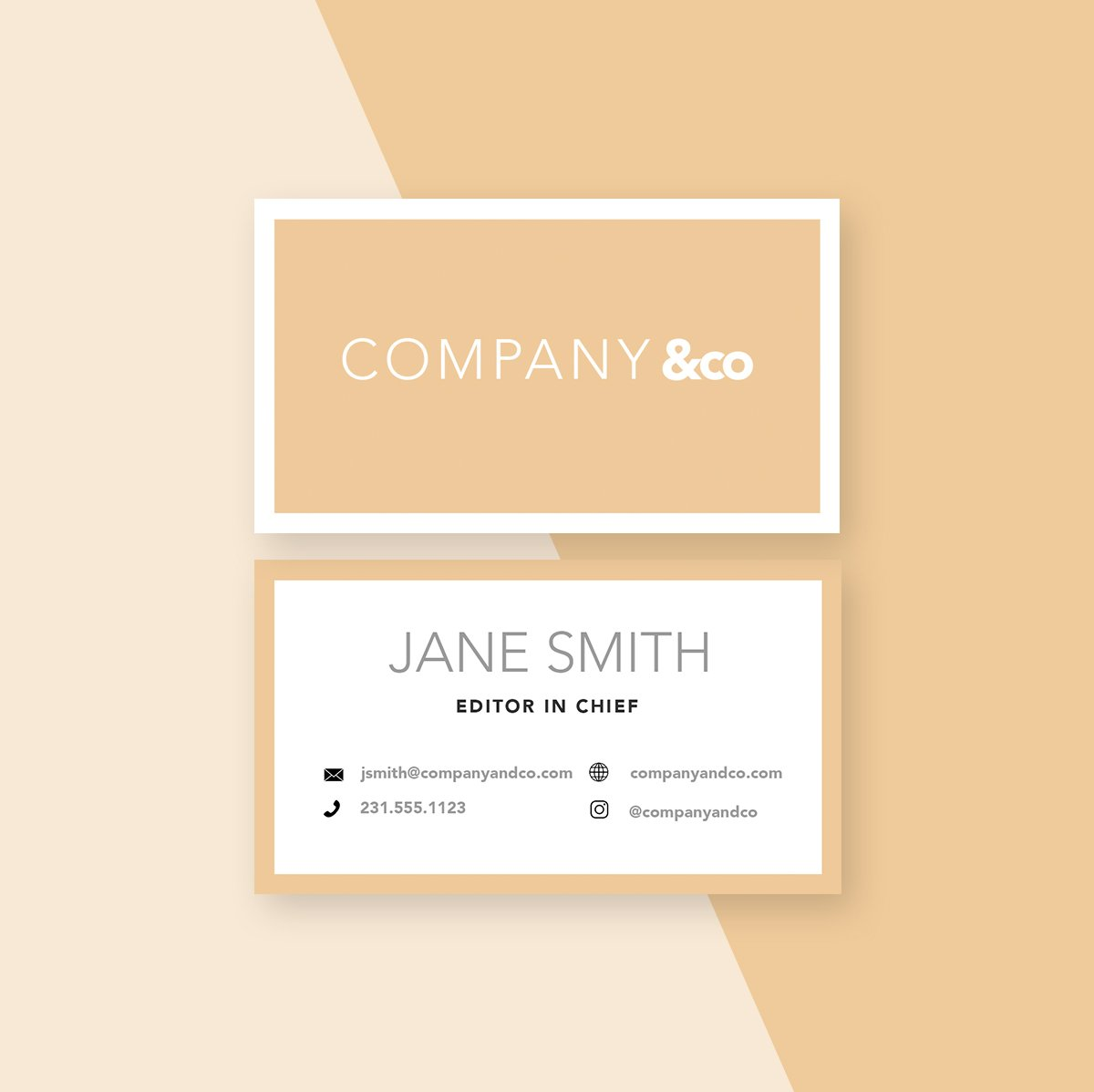 Company & Co Business Card Template