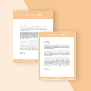 downloadable letterhead template modern minimal
